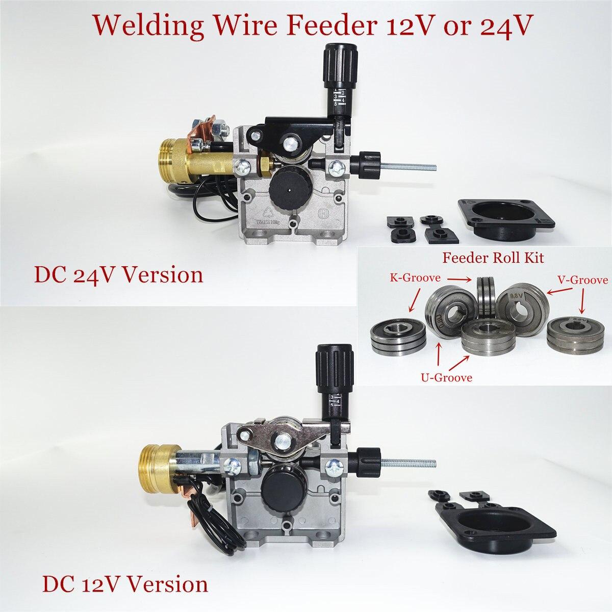 Wire Feeder DC 12V 24V SSJ-29 LRS-775 Feeder Roll U V K Groove EU Socket for Steel Aluminum Flux Cored Wire MIG Welding Machine